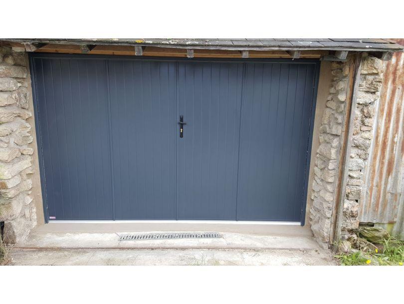 porte de garage ouverture à la française